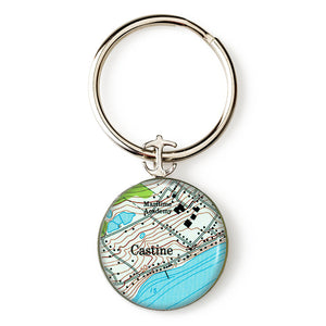 Castine Maritime Academy Anchor Key Ring