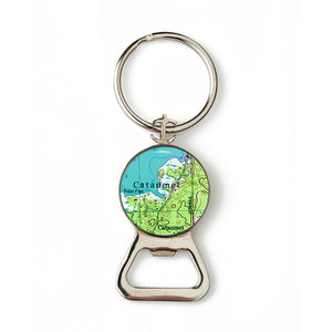 Cataumet Combination Bottle Opener with Key Ring