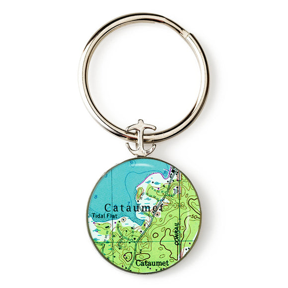 Cataumet Anchor Key Ring
