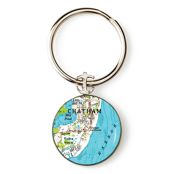 Chatham Lighthouse Anchor Key Ring