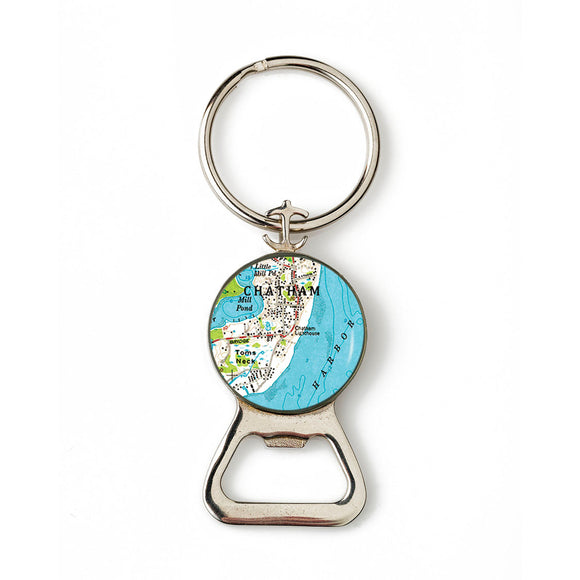 Chatham Lighthouse Combination Bottle Opener with Key Ring