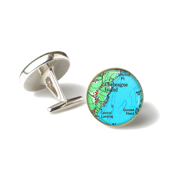 Chebeague Island 1 Cufflinks