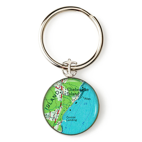 Chebeague Island 2 Anchor Key Ring