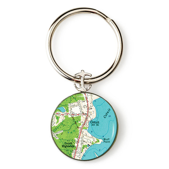 Cotuit Anchor Key Ring