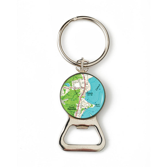 Cotuit Combination Bottle Opener with Key Ring
