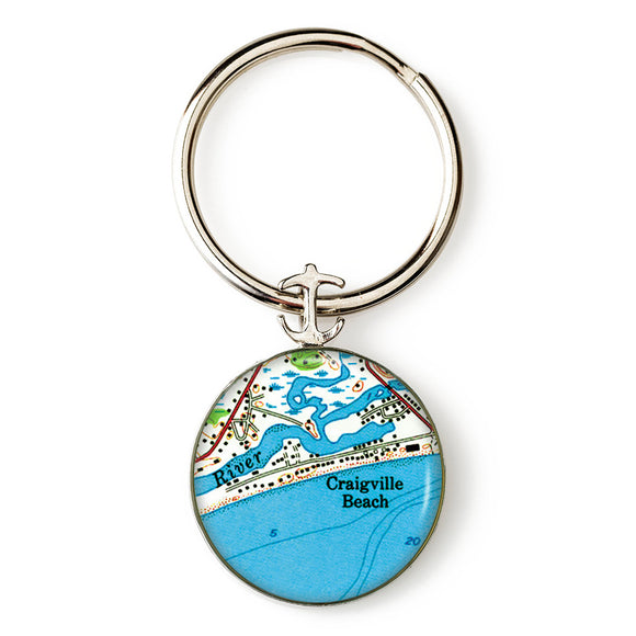 Craigville Beach Anchor Key Ring