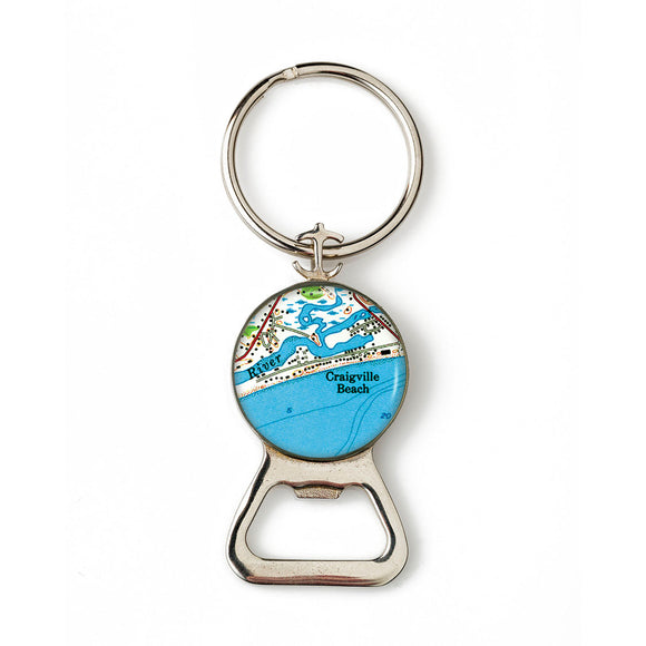 Craigville Beach Combination Bottle Opener with Key Ring