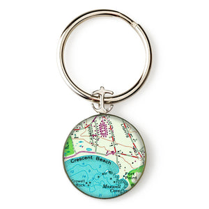 Crescent Beach 1 Anchor Key Ring