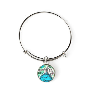 Crescent Beach 2 Expandable Bracelet with Anchor Charm