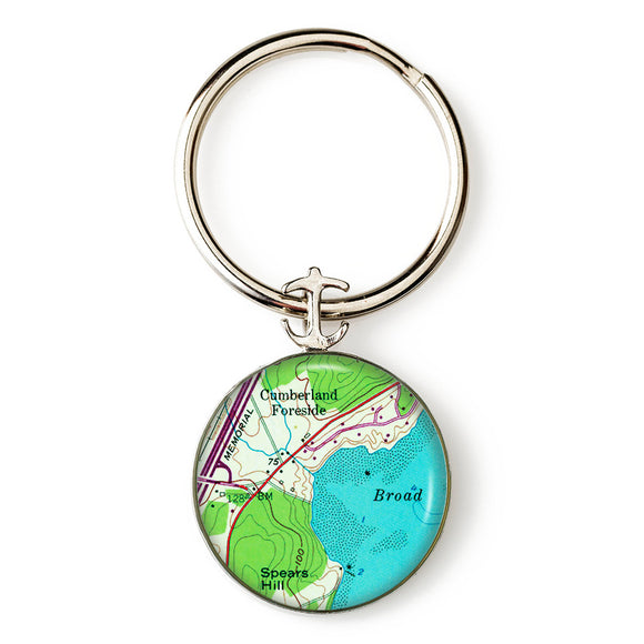 Cumberland Foreside Anchor Key Ring