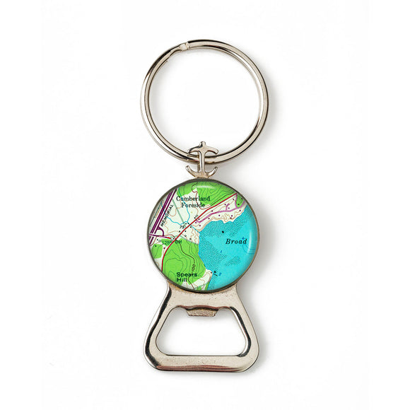 Cumberland Foreside Combination Bottle Opener With Key Ring