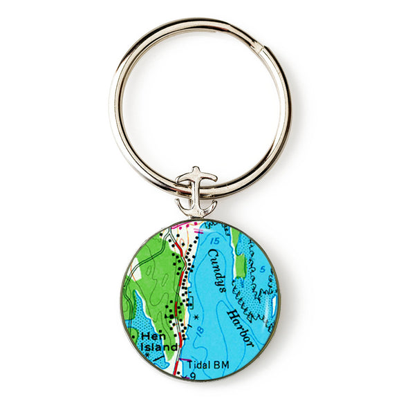 Cundys Harbor 1 Key Ring