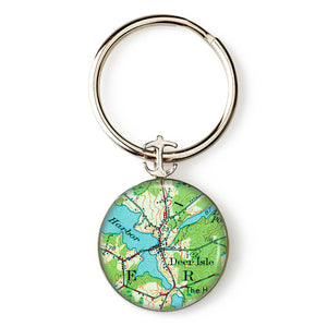 Deer Isle 2 Anchor Key Ring