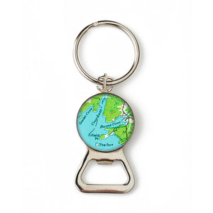 Deer Isle Burnt Cove Goose Cove Anchor Combination Bottle Opener with Key Ring