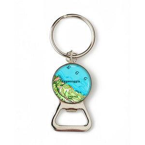 Deer Isle Eggemogin Anchor Combination Bottle Opener with Key Ring