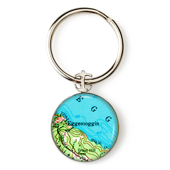 Deer Isle Eggemogin Anchor Key Ring