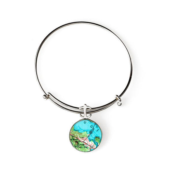 Deer Isle Little Deer Isle Expandable Bracelet with Anchor Charm