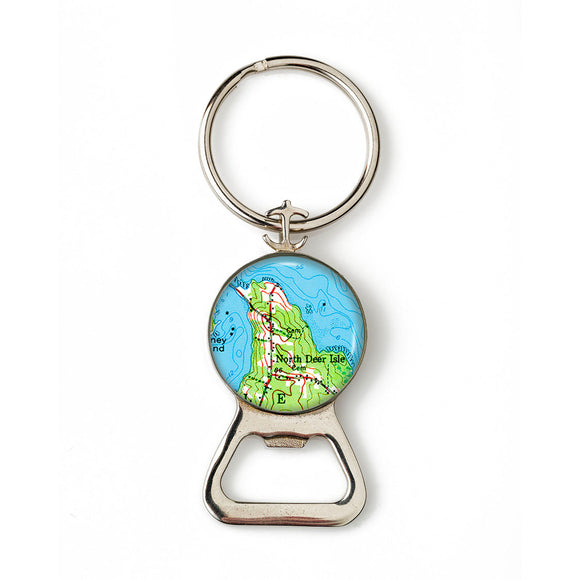 Deer Isle North Deer Isle Anchor Combination Bottle Opener with Key Ring