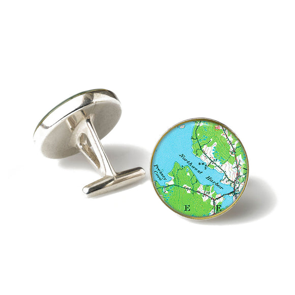 Deer Isle Northwest Harbor Cufflinks