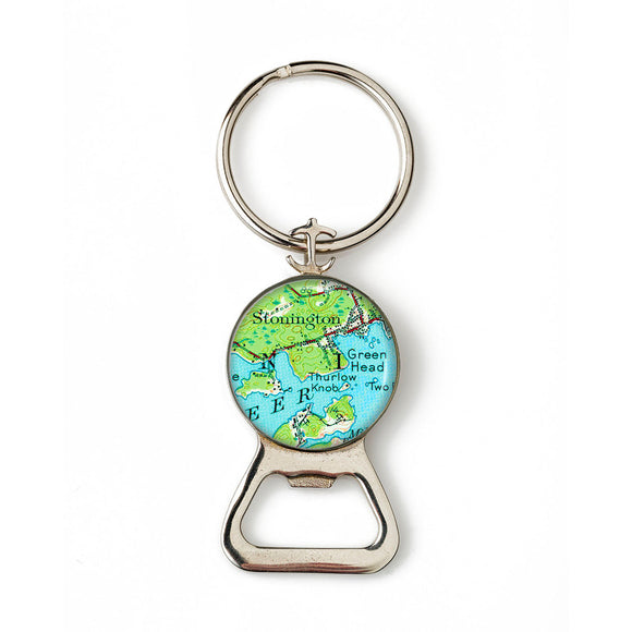 Deer Isle Stonington Green Head Anchor Combination Bottle Opener with Key Ring