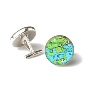 Deer Isle Stonington Green Head Cufflinks