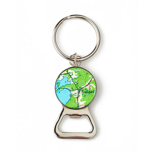 Deer Isle Sunset Anchor Combination Bottle Opener with Key Ring