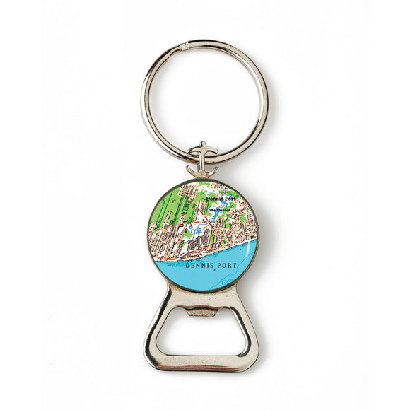Dennisport Combination Bottle Opener with Key Ring