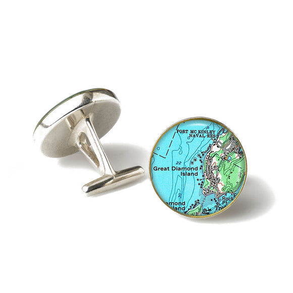 Diamond Island 1 Cufflinks