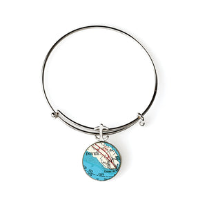 Dover Expandable Bracelet with Anchor Charm