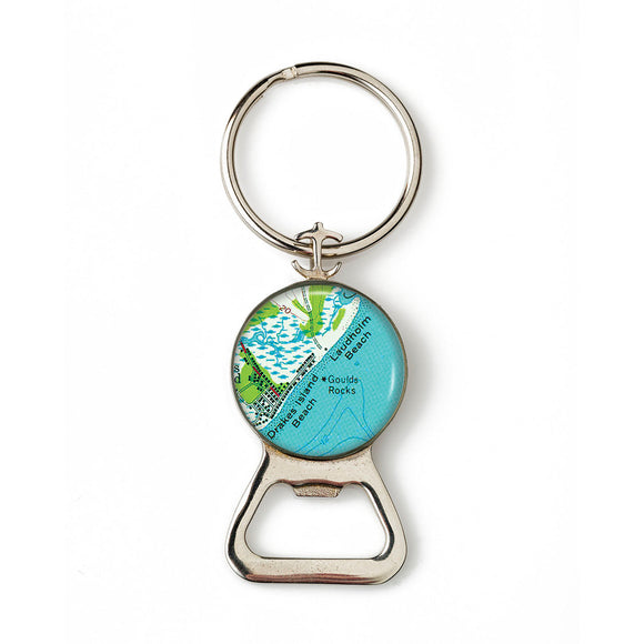 Drakes Beach Laudholm Beach Combination Bottle Opener with Key Ring
