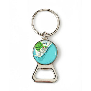 Drakes Island Combination Bottle Opener with Key Ring