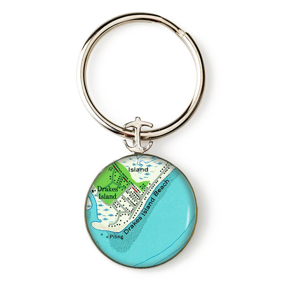 Drakes Island Anchor Key Ring