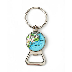 Eastport Anchor Combination Bottle Opener with Key Ring