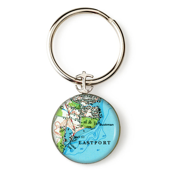 Eastport Anchor Key Ring