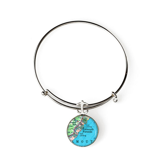 Falmouth Foreside Expandable Bracelet with Anchor Charm
