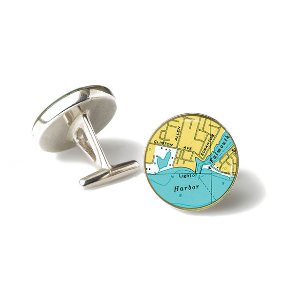 Falmouth Harbor Lighthouse Cufflinks