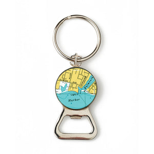 Falmouth Harbor Lighthouse Combination Bottle Opener with Key Ring