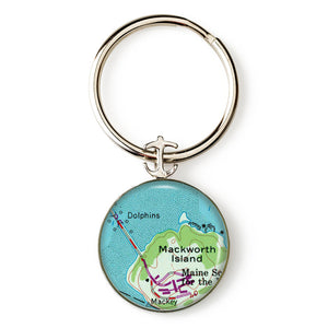 Falmouth Macworth Island Anchor Key Ring