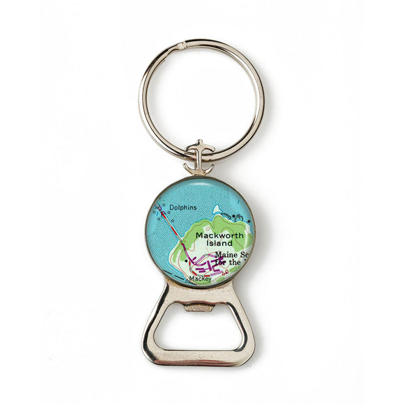 Falmouth Macworth Island Combination Bottle Opener With Key Ring