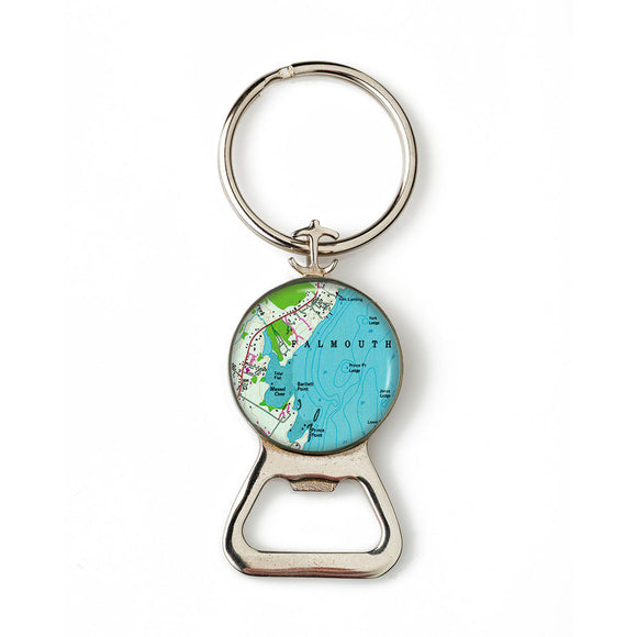 Falmouth Combination Bottle Opener With Key Ring