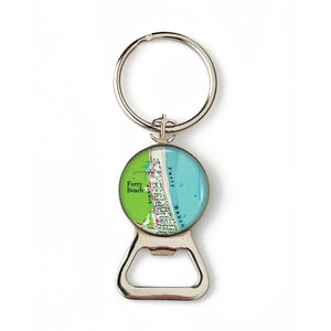 Ferry Beach Combination Bottle Opener with Key Ring