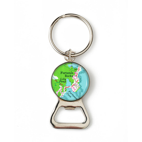Fortunes Rocks 1 Combination Bottle Opener with Key Ring