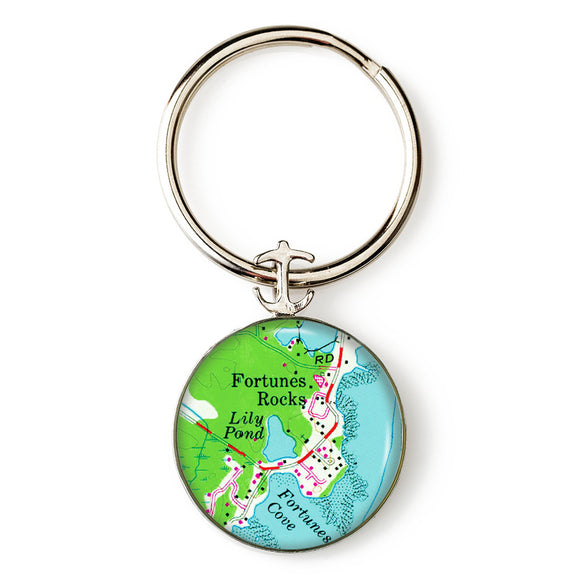 Fortunes Rocks 1 Anchor Key Ring
