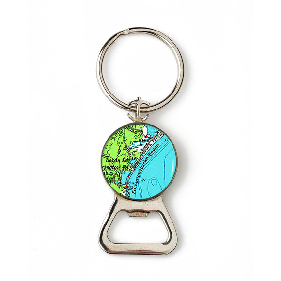 Fortunes Rocks 2 Combination Bottle Opener with Key Ring