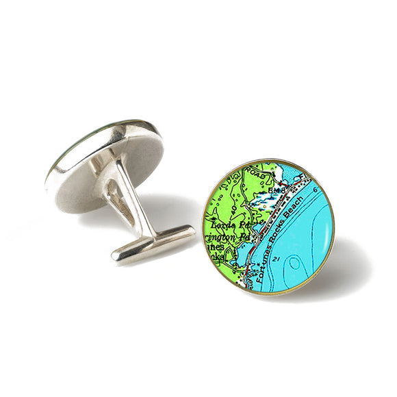 Fortunes Rocks 2 Anchor Cufflinks
