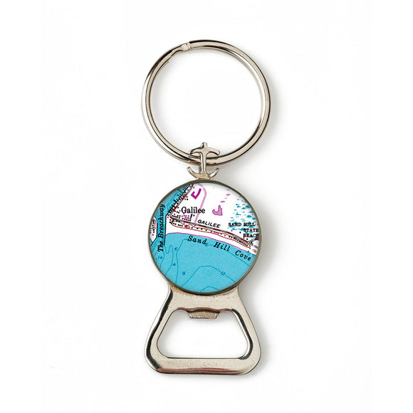 Galilee Sand Hill Cove Combination Bottle Opener With Key Ring