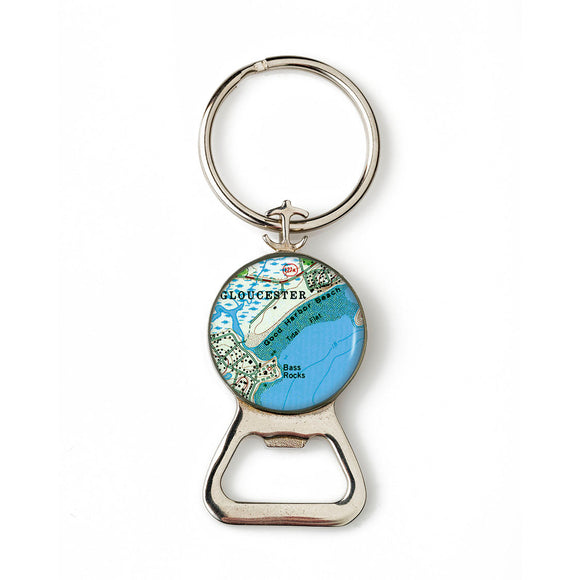 Gloucester Good Harbor Beach Combination Bottle Opener with Key Ring