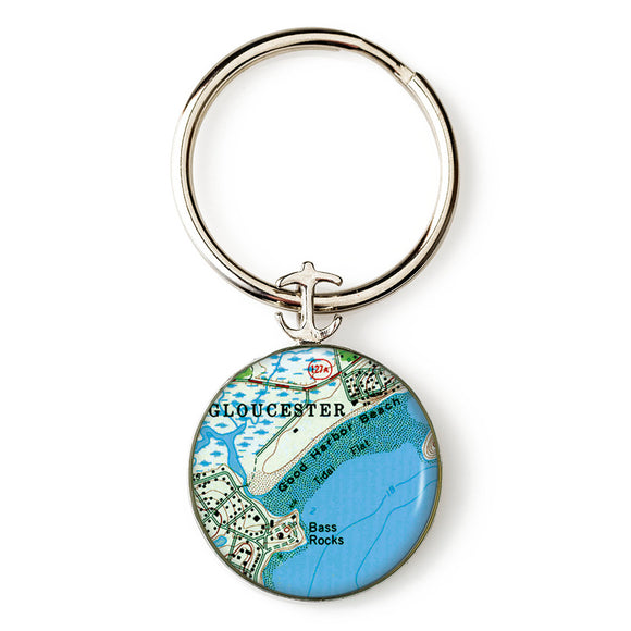 Gloucester Good Harbor Beach Anchor Key Ring