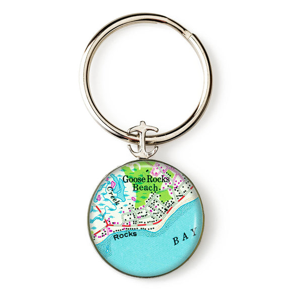 Goose Rocks Beach 1 Anchor Key Ring
