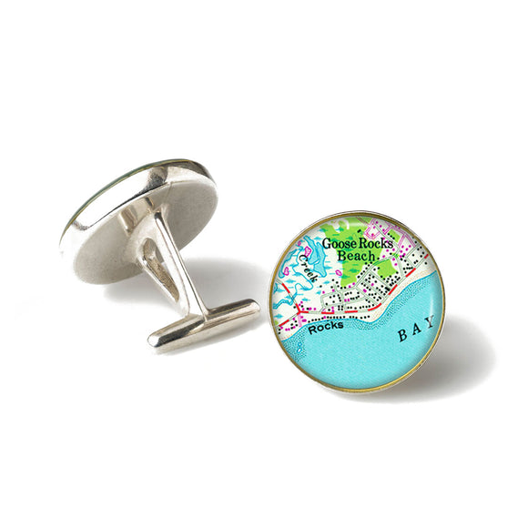 Goose Rocks Beach 1 Anchor Cufflinks